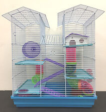 5 Level Large Twin Towner Dwarf Hamster Habitat Rodent Gerbil Degu Mice Cage 149