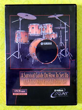 Yamaha Drums - How To Set Up / Tune Drum Set ~ DVD Movie ~ Rare 2003 Video