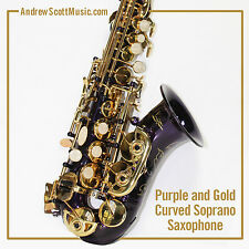 Curved Soprano Saxophone, Purple - Masterpiece