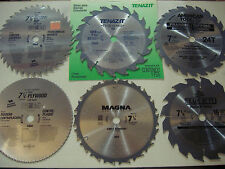 "SIX 7 1/4"" CIRCULAR SAW BLADES - CARBIDE"