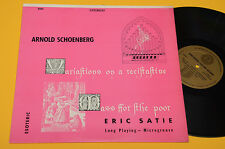 SATIE LP MESSE DE PAUVRES NM ! AUDIOFILI COUNTERPOINT ESOTERIC RECORDS ! SCHOENB