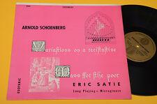SATIE LP MESSE DE PAUVRES NM ! AUDIOFILI COUNTERPOINT ESOTERIC RECORDS ! SCHOENB