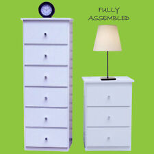 New slim boy/Chest of drawers/Sotrage/wardrobe insert + 1 Bedside table In White