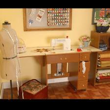Arrow Auntie Oakley Cabinet Oak  Sewing Machine Cabinet