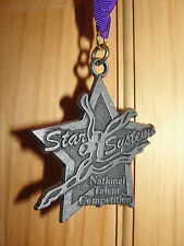 STAR SYSTEMS NATIONAL TALENT DANCE COMPETITION MEDAL AWARD PURPLE RIBBON