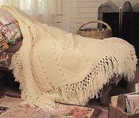 Beautiful Aran fringed Blanket- Knitting pattern- Please read description