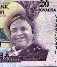 MALAWI Billet 20 KWACHA 2012  ECOLE NEUF UNC voir scan haute definition