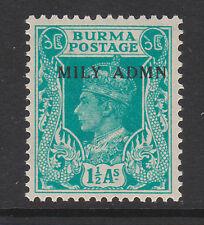BURMA 1945 1½a TURQUOISE GREEN SG 40 MNH.