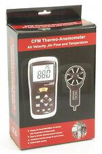 DT-619 Thermo Anemometer Vane Wind Speed CFM CMM Air Flow Temperature Meter NEW