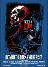 Batman - The Dark Knight Rises - SILKSCREEN - SERIGRAFIA POSTER - Blue Variant