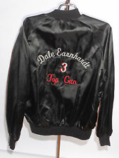 VINTAGE DALE EARNHARDT 3 TOP GUN BLACK NYLON EMBROIDERED JACKET! LIGHTWEIGHT! M