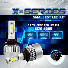 200W 20000LM CREE LED 6000K White Headlight High Beam Kit ONLY - 9005 HB3 (A)