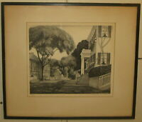 Vintage RUTH HAVILAND SUTTON 'Lower Main Street NANTUCKET' Lithograph - LISTED