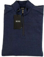 Hugo Boss Sidney Dark Blue Quarter Zip Pullover Men's Size Medium NWT $175