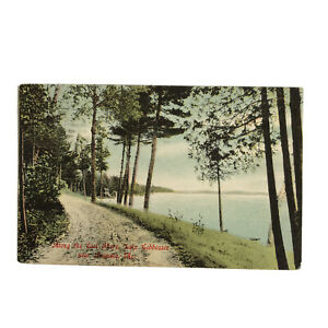 Last Shore Lake Cobbossee Augusta Maine Postcard 1908 Germany Divided Posted
