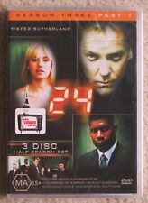 24 : Season 3 : Part 1 (DVD, 2005) Region 4, new & sealed, Kiefer Sutherland