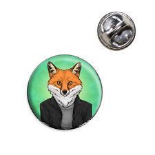 Portrait of a Fox Lapel Hat Tie Pin Tack