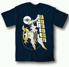 Anime Pokémon Arceus T-shirt Tee Tops  Multicolor Short Sleeve Small Mens Blue