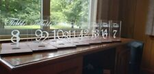 Clear Acrylic Wooden Wedding Table Numbers Freestanding Rustic