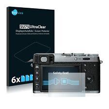 6x Displayschutzfolie für Fujifilm X100T Klar Schutzfolie Displayfolie
