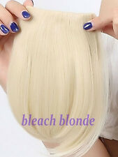US Stock Bangs Clip on Neat Bang Fringes Clip in Hair Extensions as Human Hair