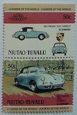 1963 PORSCHE 356C CABRIOLET Car Stamps (Leaders of the World / Auto 100)