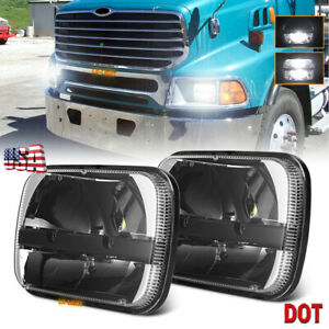 """2pc 105W 7x6"""" Led DOT Headlights Hi/Lo Beam for For STERLING TRUCK A9500 LT9500"""