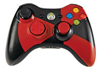 Microsoft Xbox 360 Wireless Controller Red Black Radioactive Gamestop Exclusive
