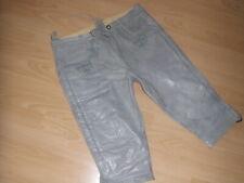ALMSACH Lederhose Tracht Damen Glattleder edel grau mit Stickerei Gr.42 L neu