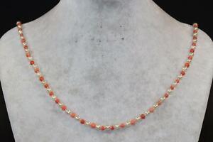 Halskette Collier Perlen & rosa Koralle Engelshautkoralle (CP385)
