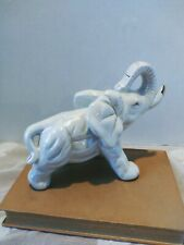 Made In China Lusterware Opalescence Style Elephant Figurine, Good Luck Trunk Up