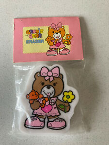 Vintage 80s Erasers Rubbers - Bonnie Bear Eraser In Original Packaging