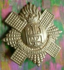 Royal Highland Fusiliers Pipers Cap Badge QC Heavy white Metal 2 Lugs
