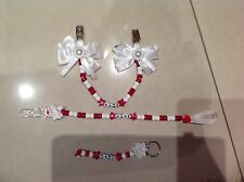 Hanging pram charm and nappy bag keyring and dummy clip