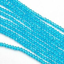100x 3mm Faceted Near Round Crystal Cut Glass Small Spacer Beads