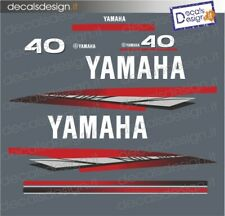 Adesivi calandra motore marino fuoribordo Yamaha 40 cv 2t autolube gommone barca