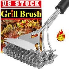 """17"""" Bristle Free Grill Brush Stainless Steel Safe BBQ Cleaner for Grill Cleaning"""
