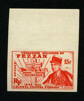 FRANCE FEZZAN Yv 50 Imperforate MNH, sheet border