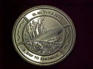 914) S.S. Titanic Medallion - Silver Plated - Starts at $5.00