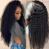 Kinky Curly Peruvian Remy Human Hair Lace Front Wigs Water Wave Full Lace Wig US