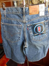 NEW NWT Vtg 90s Levis 550 Boys 28 Relaxed Fit Red Tab Denim Blue Jean Shorts