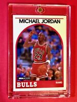 Michael Jordan 1989 NBA HOOPS AUTHENTIC ORIGINAL CHICAGO BULLS CARD - Sharp!