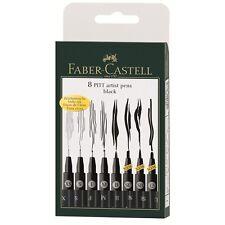 Faber-Castell PITT Artist Pen Black 8 XS S F M B SC SB 1.5 Technical Drawing