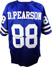 Drew Pearson Autographed Blue Dallas Cowboys Football Jersey #9, JSA