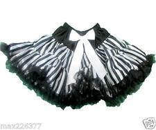 New dance 1st birthday tutu pettiskirt party stripes black skirt toddler 5-8 yrs