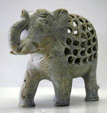 Grande Statua Scultura Pietra Saponara Elefante Stone Statue Sculpture Elephant