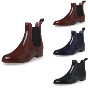 Women's Fashion Slip On Short Rain Boots Rubber Shoes Ankle Casual Outdoor New