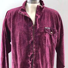 VINTAGE Ezze Wear Honey Komb Perma Shrunk Acid Wash Purple Jacket Size S/M A026