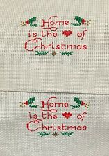 Completed Finished Cross Stitch, Home Is The Heart Of Christmas