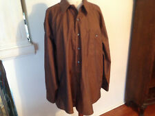 NEW ROBERTO VILLINI Collezione Bronze Cotton Mens Long Sleeve Dress Shirt 17.5